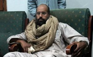 Saif al Islam, hijo de Muamar el Gadafi.