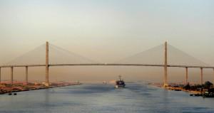 El Canal de Suez (Egipto).