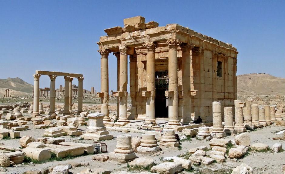 Templo de Baal Shamen en Palmira, destruido por el Estado Islámico en agosto de 2015.