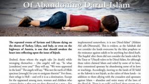 Artículo de la revista 'Dabiq' con la imagen de Aylan Kurdi.