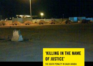 Informe de Amnistía Internacional sobre la pena de muerte en Arabia Saudí.