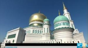 La Gran Mezquita de Moscú, inaugurada por Vladímir Putin el 23 de septiembre de 2015.