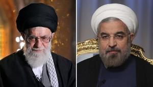 El ayatolá Alí Jamenei y Hasán Ruhaní