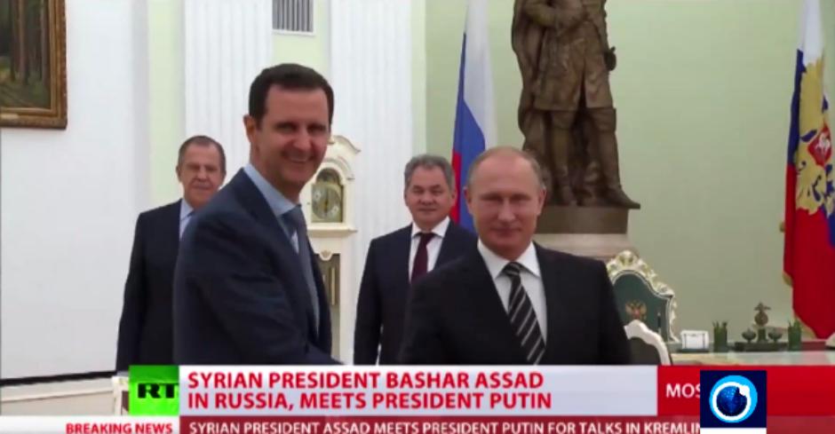 Bashar al Asad y Vladímir Putin, en Moscú (octubre de 2015).
