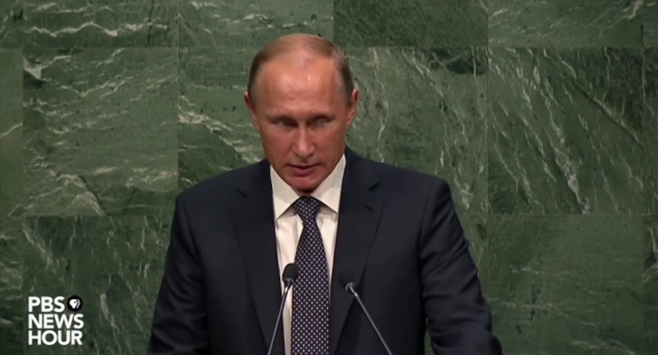 Vladímir Putin en la ONU.