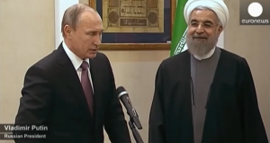 Vladímir Putin y Hasán Ruhaní.