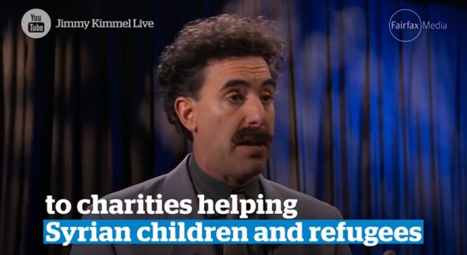 Sacha Baron Cohen (Borat).