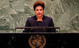 Dilma Rousseff, presidenta del Brasil.
