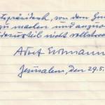 Israel publica la petición de indulto de Eichmann