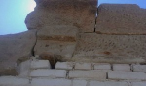 Estrellas de David en un templo romano de Elefantina (Egipto).