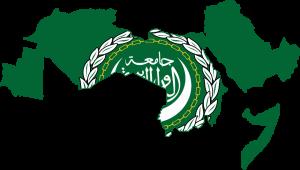 Mapa de la Liga Árabe.