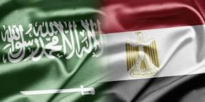 Banderas de Arabia Saudí y Egipto.