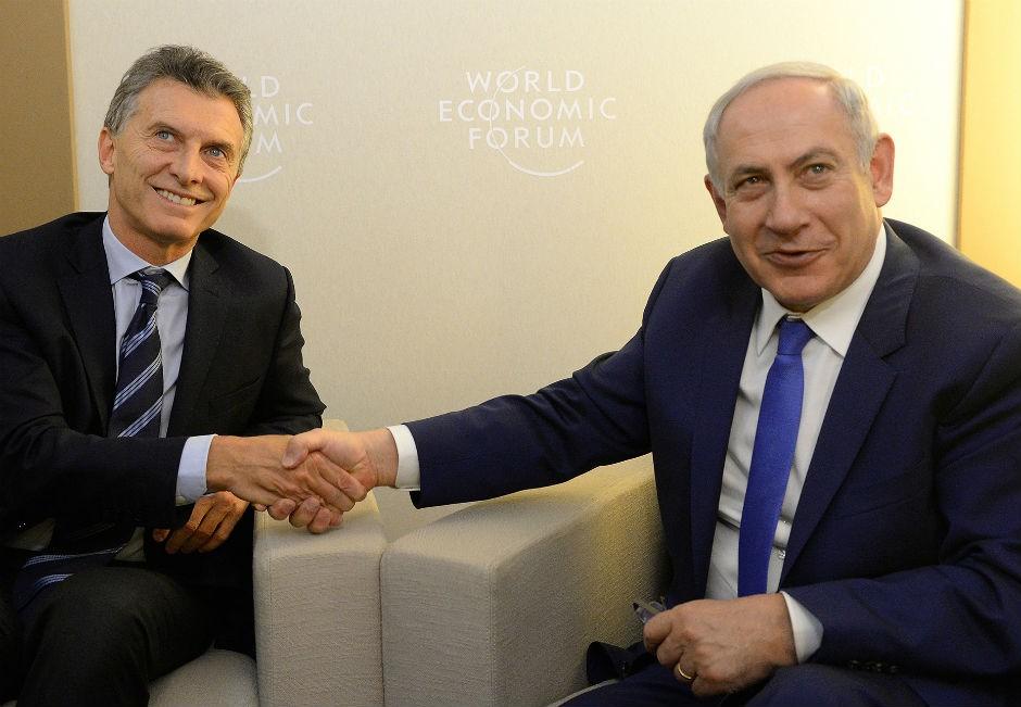 Mauricio Macri y Benjamín Netanyahu.