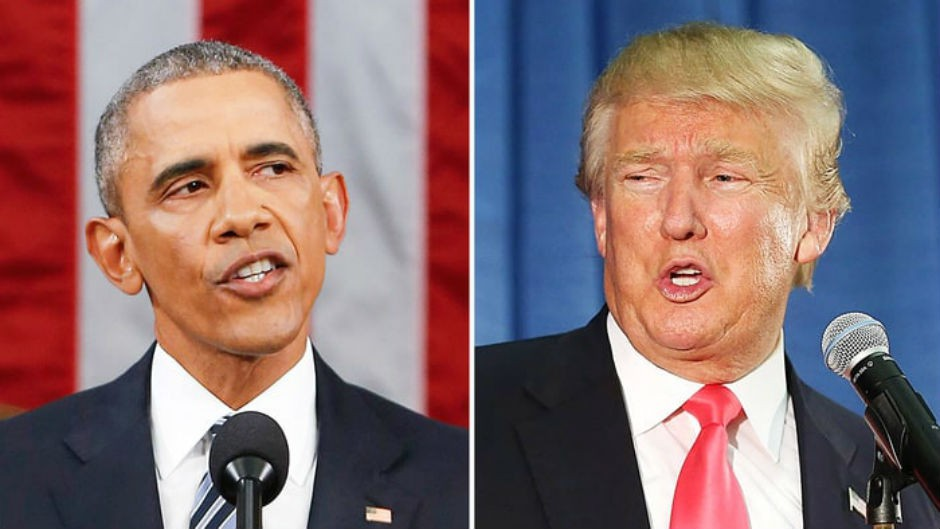 Barack Obama y Donald Trump.
