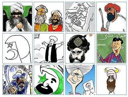 Viñetas sobre Mahoma publicadas por el diario danés Jyllands Posten