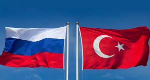 Banderas de Rusia y Turquía.