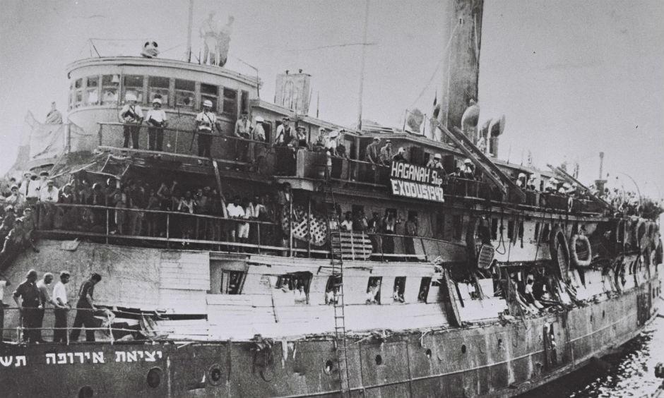 El célebre 'Exodus 1947'.