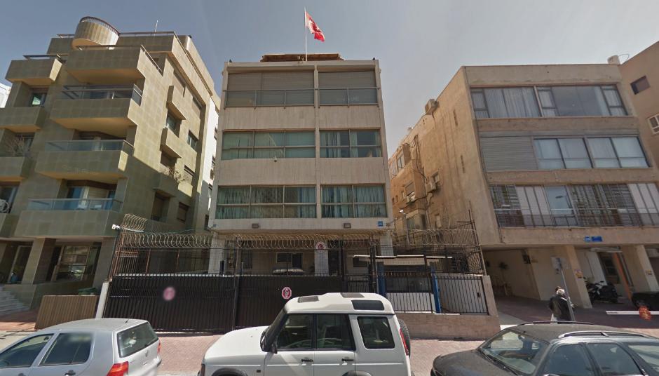 La embajada de Turquía en Israel.