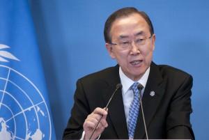 Ban Ki Moon en la sede de Nueva York