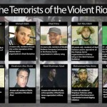 Terroristas en la 'Marcha Verde' palestina contra Israel