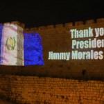 """""""Gracias, presidente Jimmy Morales Cabrera"""""""