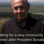 Altos del Golán: Netanyahu quiere poner a Trump en el mapa
