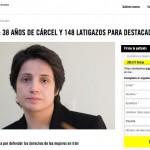 Irán: 38 años de cárcel y 148 latigazos por defender los derechos de la mujer