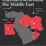 El coronavirus en Oriente Medio